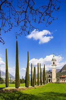 San Abbondio / Tessin , near graveyard is the final resting place of Hermann Hesse