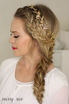 French Braid and Side Fishtail Braid