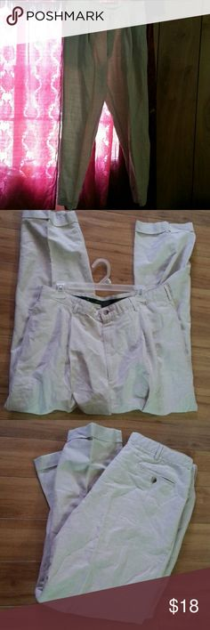 Men linen blend slacks Size  w38 L32 new condition  from  smoke  free  home Club Room Pants Chinos & Khakis