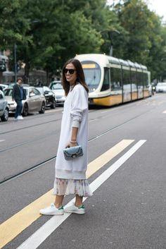 Erika Boldrin #streetstyle #fashionweek - Bag by Paula Cademartori, available at LUISAVIAROMA