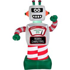 Wal-Mart 6' Animated Robot Airblown Inflatable Christmas Prop
