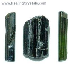 Like all Tourmalines, Green Tourmaline is a metaphysically protective stone which is said to balance and harmonize the chakras.  These gemmy Green Tourmaline Rods are ideal for healing purposes as they can focus their healing energies, clearing the aura and removing blockages.   Green Tourmaline can attract money and success, is often used for the Heart Chakra, and is said to be calming and soothing.  All Tourmaline is thought to balance the left and right hemispheres of the brain.