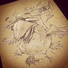#absorb81 #art #illustration #drawing #sketch #bird
