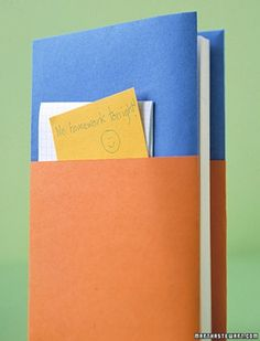 paper book cover with pocket from Martha Stewart