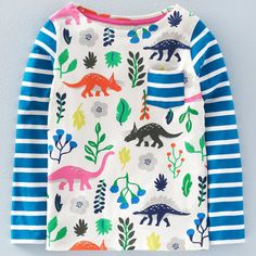 print & pattern blog - new season by dinosaur print by mini boden