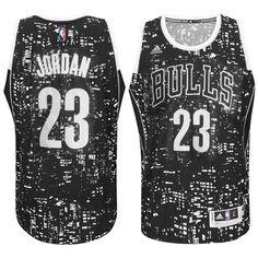Chicago Bulls  23 Michael Jordan City Lights Black Swingman Jersey Los  Angeles Lakers 9a89f4078