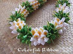 we… / tomiphotography. Ribbon Lei, Diy Ribbon, Ribbon Work, Ribbons, Money Lei, Moana Party, Kanzashi Flowers, Diy Flowers, Oscar Party