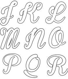 ALFABETO CURSIVO: Moldes, Para Imprimir Alphabet Graffiti, Graffiti Lettering Fonts, Hand Lettering Alphabet, Copperplate Calligraphy, Calligraphy Fonts, Bullet Journal 2, Unicorns And Mermaids, Word Design, Lettering Tutorial