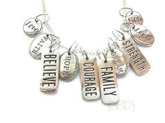 Inspiration Tag Dangle Charm for your Floating Charm Memory Locket - Family, Faith, Believe and more.