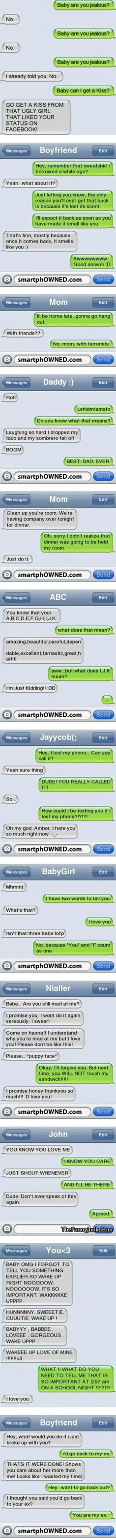 Check out to get some laughs from jokes sms, and funny texts messages. Funny text messages between couples, parents and kids Haha, Lol Text, Cute Texts, Hilarious Texts, Sweet Texts, Funny Texts Crush, Funny Pranks, Funny Messages, Laughing So Hard