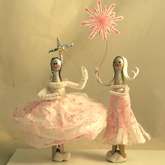 Make Scrap Paper Clothes Pin Dolls Using Scraps From Craft Projects: Make Scrap Paper Clothes Pin Dolls
