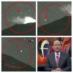 TV News Video: Many UFOs Seen Entering And Leaving Volcano In Mexico,