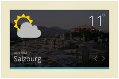 142 Weather Widget (freebie by pixelcave)