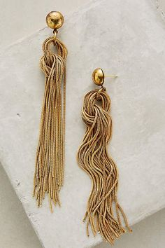 Anthropologie Rabo Fringe Earrings