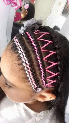 Encintado Little Girl Hairstyles, Cute Hairstyles, Toddler Hairstyles, Stylists, Braids, Hair Accessories, Hair Styles, Beauty, Paper Clutter