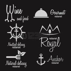 Ensemble de logo et le logotype l ments pour le restaurant et le caf  Banque d'images