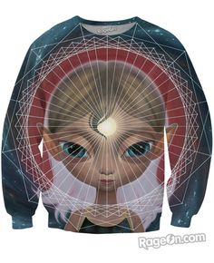 Telepathy Sweatshirt - Rage On! - The World's Largest All-Over Print Online Retailer