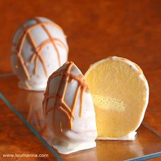 """Here is a deliciously delightful pumpkin gelato bomba that I photographed for Bindi USA. What a way to enjoy this """"Tasty Tuesday"""" Halloween!  #gelato #bomba #Italiandessert #frozendessert #Halloween #pumpkin #dessert #sweet #delicious @bindiusa @LouManna"""