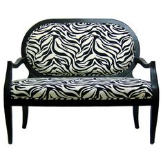 I pinned this Zebra Settee from the Design Icon: Marilyn Monroe event at Joss and Main! and i wish i had a room for it now! My Living Room, Living Room Chairs, Office Seating, Pink Bedding, Accent Furniture, Nice Furniture, Painted Furniture, Bedroom Furniture, Joss And Main