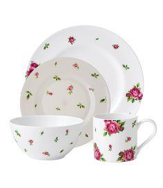 Royal Albert New Country Roses White Modern Casual Dinnerware  sc 1 st  Pinterest & Polka blue dinnerware range   Setting the Table   Pinterest   Blue ...