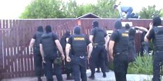Video aired on a Russian news outlet shows armed police and FSB agents raiding a religious service of Jehovah's Witnesses in Oryol, Russia.