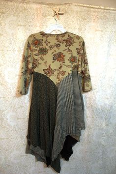 Boho Fall/Winter Plus Size Knit Shirt, Shabby Chic Romantic, Bohemian Junk Gypsy…