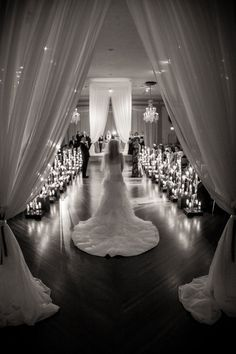 Love this unique twist: The bride entered the ceremony by herself, then met her parents halfway down the aisle!