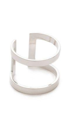 Jennifer Zeuner Jewelry Rectangle Band Ring @ SHOPBOP.