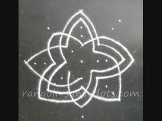 Lotus rangoli in steps - step 3