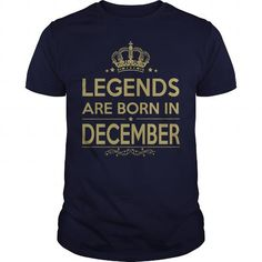 Awesome Tee LEGENDS ARE BORN IN DECEMBER Shirts & Tees