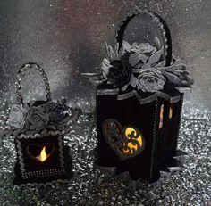 Lanterna feltro e glitter