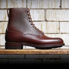 "#NewTrend in #Fashion and #Luxury industry, for leather the #RussianGrain is back, good exemple with the brand new ""Radnor"" boots from #CrockettAndJones - October 2016"