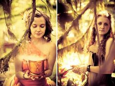 Morgan & Ryan's woodland mythical handfasting wedding |.. i adore this.  @offbeatbride