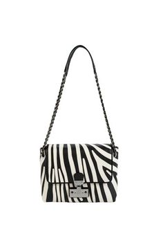 Large Single bag with zebra embroidery