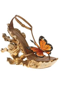 Alexander McQueen butterfly wedges.....These must endow the wearer with some kind of magical power!