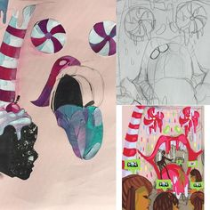 Work in progress. Sketch-colored sketch- collage