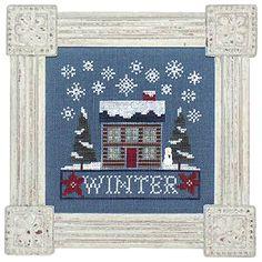 Winter Cottage Boxer - Lizzie Kate