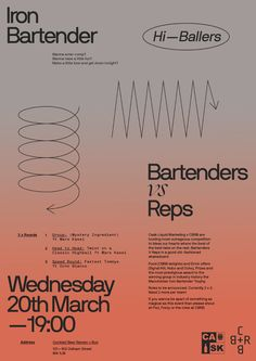 Poster for bartender / cocktail competition / event / piss up. Web Design, Page Design, Layout Design, Print Design, Poster Layout, Print Layout, Editorial Layout, Editorial Design, Graphic Design Posters