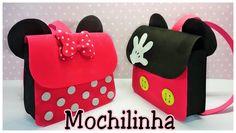 Como fazer mochilinha da Minnie e mickey em EVA                                                                                                                                                                                 Más