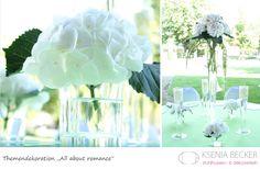 romantische vintage hochzeitsdekoration tischdekoration mit hortensien amaranthus rosen
