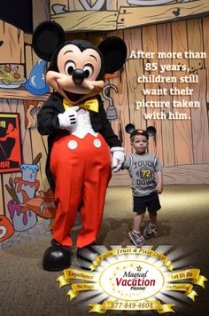 Mickey has fans of all ages! Many of you or your children have had your picture taken with him. When was the very first time anyone in your family had a picture taken with Mickey?!