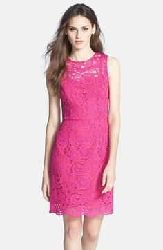 Alexia Admor Back Bow Detail Lace Sheath Dress available at #Nordstrom
