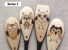 These Whimsical Owls are a very popular design series and make a great gift for any occasion, including graduations (think wise owl), new apartment or house warming, Mothers Day, Valentines Day, birthdays, etc. DESIGN SERIES: You can choose the 4 owl set that tickles your whimsy by using the Design Series drop-down to select Series 1, Series 2, or Series 3. RIMS/HANDLES: Use the Style drop-down to indicate whether you want the rims and handles burned or unburned. The small floral…