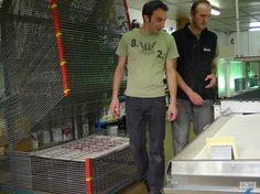Zig et Hubert à l'atelier sérigraphique - 2011