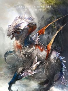 Artist: Unknown name aka kera2 - Title: dragon - Card: Crystal Dragon