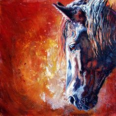 Refined by Fire Canadian Horse painting by WWRCreations on Etsy, $590.00