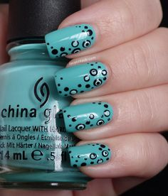 Lucy's Stash - Nail Art Dotticure with China Glaze Aquadelic