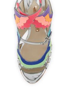 70ebc50c852e Sophia Webster - Fire Bird Metallic Cutout Sandal