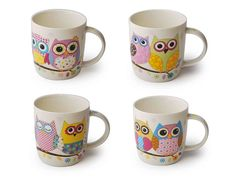Hrníčky se sovou Mugs, Tableware, Dinnerware, Tumblers, Tablewares, Mug, Dishes, Place Settings, Cups