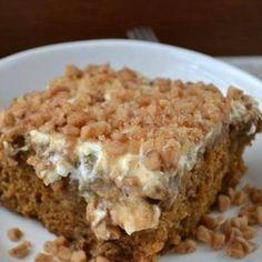 Gingerbread Butterscotch Poke Cake